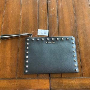 Michael Kors - Studded zip wristlet clutch